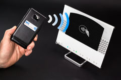 NFC - Near field communication / mobile payment Stock Images