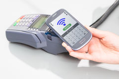 NFC - Near field communication. Mobile payment Royalty Free Stock Images