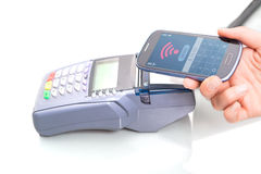 NFC - Near field communication Royalty Free Stock Photo