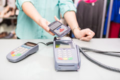 NFC - Near field communication Royalty Free Stock Photography