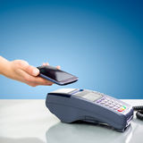NFC - Near field communication. Mobile payment Stock Photo