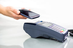 NFC - Near field communication. Mobile payment Royalty Free Stock Image
