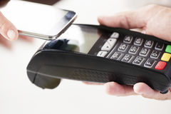 NFC - Near field communication, mobile payment Stock Images