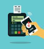 NFC - Near field communication. Mobile payment. Stock Image