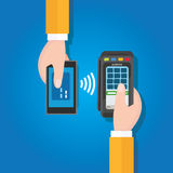 NFC near field communication mobile payment Royalty Free Stock Image