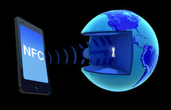 NFC - Near Field Communication. NFC, mobile payment, Wireless Technology Stock Image