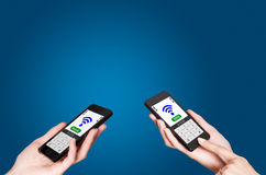 NFC - Near field communication Stock Photos
