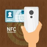NFC payment design concept Royalty Free Stock Images