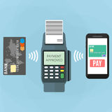 Nfc payment flat design style Royalty Free Stock Images