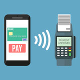 Nfc payment flat design style Stock Photography