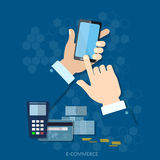 NFC payment modern smartphone with processing of mobile payments Stock Photo