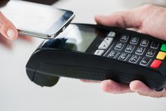 NFC Payment. Near Field Communication Mobile Payment Royalty Free Stock Photography