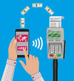 Nfc payments concept. Royalty Free Stock Photo