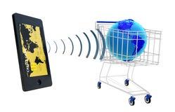 NFC - Perto de uma comunicação do campo imagens de stock royalty free