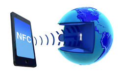 NFC - Près de la communication de champ Images libres de droits