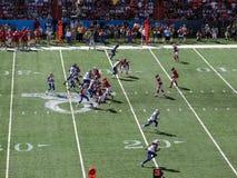 NFC-Quarterback Aaron Rogers stellt auf Wurf mit anderem All-Star- P ein Lizenzfreie Stockfotografie