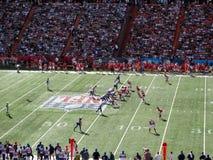 NFC-Quarterback Aaron Rogers stellt mit anderem All-Star- Spielerli ein Stockfotografie