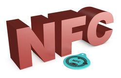 Nfc tag Royalty Free Stock Image
