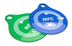 Nfc tags Royalty Free Stock Photography