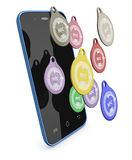 Nfc tags Royalty Free Stock Photo