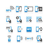 NFC technolgy icon set Stock Photography