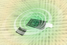 NFC Technology. NFC Mobile Wallet Online Payment Stock Image