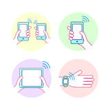 NFC technology concept Royalty Free Stock Images