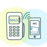 NFC technology concept Stock Images