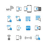 NFC technology icon set  Stock Image