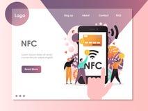 NFC vector website landing page design template