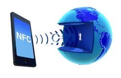 NFC - Vicino alla comunicazione del campo Immagini Stock Libere da Diritti
