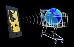 NFC - Vicino alla comunicazione del campo Fotografie Stock Libere da Diritti