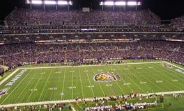NFL在光之下的星期一晚上橄榄球 库存照片