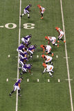 NFL橄榄球争球线 免版税图库摄影