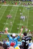 NFL -五颜六色的风扇-我们是第1! 免版税库存照片
