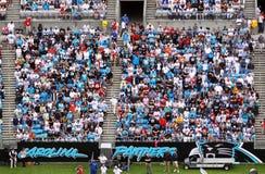 NFL -五颜六色的风扇-蓝色海运  免版税图库摄影
