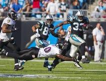 NFL : 21 novembre Baltimore Ravens contre des panthères de la Caroline Photo libre de droits