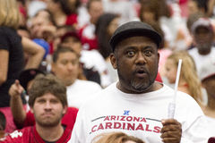 NFL Arizona Cardinal Football Fan Stock Image