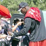 NFL Arizona Cardinals Adrian Wilson. NFL Arizona Cardinals defensive back Adrian Wilson signs autographs Royalty Free Stock Images