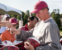 NFL Arizona Cardinals Coach Whisenhunt. After an NFL lockout, past NFL Super Bowl contenders, the Arizona Cardinals held training camp in Flagstaff, Arizona royalty free stock image