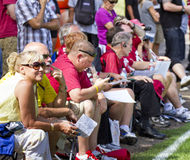 NFL Arizona Cardinals training camp fans Royalty Free Stock Photography