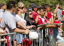 NFL Arizona Cardinals training camp fans Stock Photo