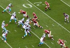 NFL - ¡Bombardeo! Imagen de archivo libre de regalías