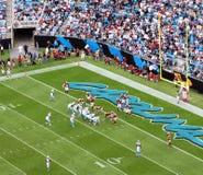 NFL - dans la zone rouge Photographie stock libre de droits