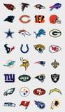 NFL drużyn logowie Zdjęcie Royalty Free