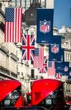 Nfl en Londres imagen de archivo libre de regalías