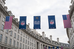 NFL en Regent Street Imágenes de archivo libres de regalías