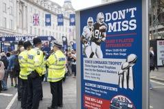 NFL en Regent Street Fotos de archivo libres de regalías