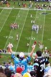 NFL - färgrika ventilatorer - vi är nummer 1! royaltyfria foton