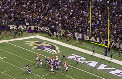 NFL Football Field Goal Block Attempt Royalty Free Stock Photo